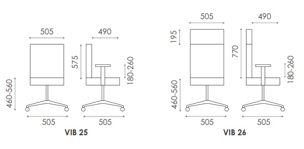 Vibe Lite Chair Dimensions