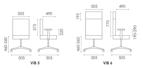Vibe Plastic Back Chair Dimensions