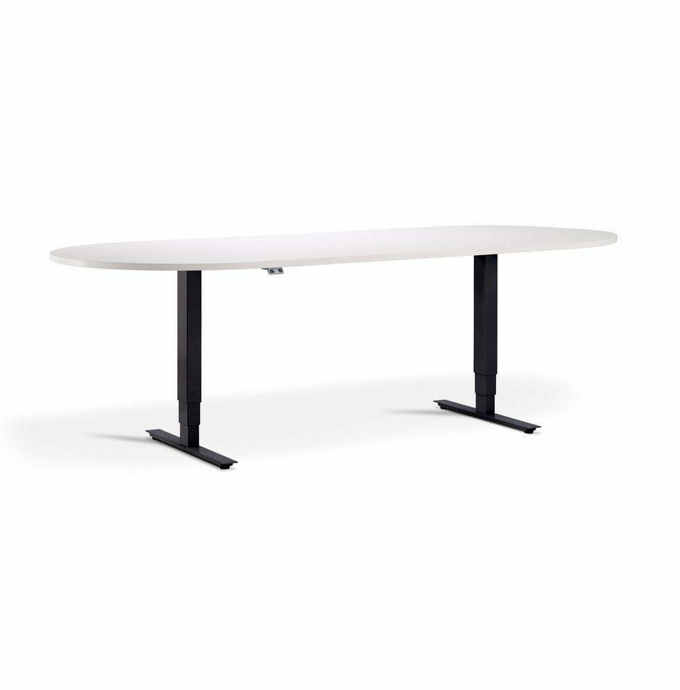 Advance Height Adjustable Meeting Table - D End